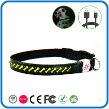 Bottom price for Leather Nylon Led Dog Collar Fancy Surface Led Light Collar For Dog supply to Spain Exporter