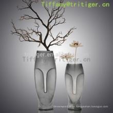 Grande vaso de vidro feito à mão / vaso de vidro do cilindro / cilindro de vidro barato do vaso