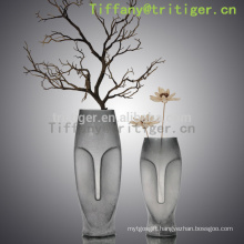 Eco friendly fashion crystal glass vase design unique decorative vase
