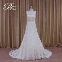 Guangzhou Floral Motif A-Line Bridal Wedding Gowns Lace