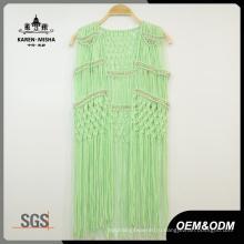 Женщин Специальная Конструкция Металлическая Бусина Зеленая Пляжная Одежда