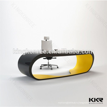 искусственная мраморный твердая поверхность,работы в офисе стол,офисный стол ресепшн