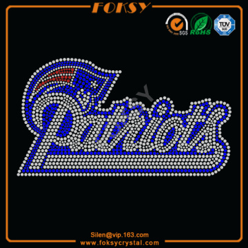 Holiday sales for Steelers Rhinestone Transfer New England Patriots rhinestone patterns export to Grenada Factories
