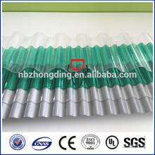 Revêtement UV en polycarbonate feuille ondulée transparente