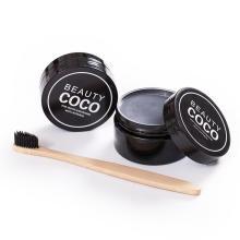 Teeth Whitening aufhellende Pulver aktiviert Kokosschale Holzkohle