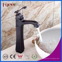 Grifo de mezclador de agua de baño de bronce de alto cuerpo con baño de bronce Rubbered