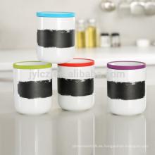 recipiente de café de cerámica