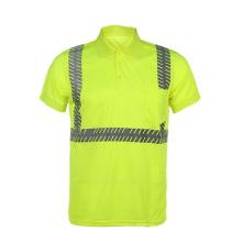 100% Baumwolle hohe Sichtbarkeit reflektierende Polo Shirts