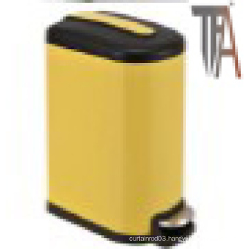 Yellow Color Rectangle Soft-Close Trash Can --Ss Baskets