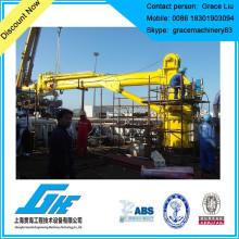Guindaste telescópico hidráulico da plataforma do boom para o navio