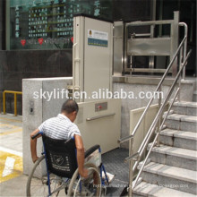 Hydraulic wheelchair vertical lift elevator mechanism