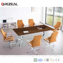 Table de conférence pliante rectangulaire grande salle de réunion moderne 6 personnes avec roulette (MCT-SL2400)