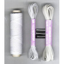 New Arrival White Round Thin Elastic Cord for Hair