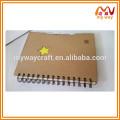 Eco переработанный крафт-бумажный чехол для спиральных ноутбуков, дневной ноутбук с карточками-указателями