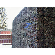 2X1X1m 8X10cm Aperture Hexagonal Wire Mesh Gabion Box Wall