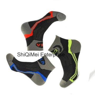 Personalizado algodão tornozelo esporte Running peúgas para homens