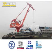 Grue de rive permet au port de gérer les conteneurs