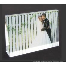 Quadro de foto de cristal de presentes de casamento barato bonito