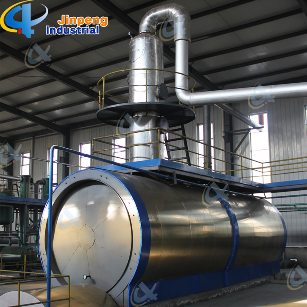Sync Gas Recycled Waste Plastic Oil Distillation Plant