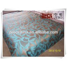 100% poliéster de alta calidad Jacquard tela de decoración utilizado Hotel cubrecama