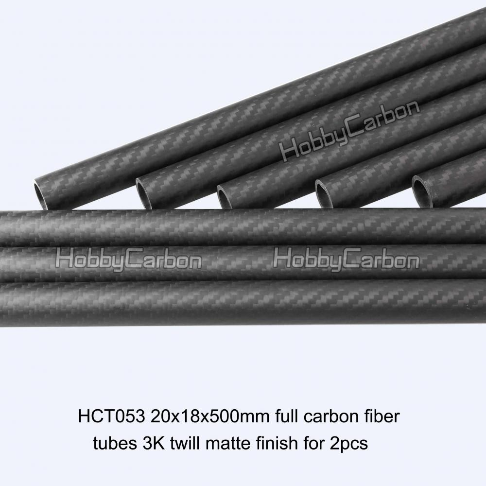 Custom 3k Twill Matt Carbon Fiber Tubes