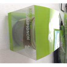 Boîte en plastique claire transparente faite sur commande d'emballage (paquet d'impression)