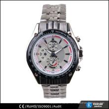 Роскошные мужские часы, кварцевые часы из нержавеющей стали