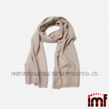 Luxurious Pure Cashmere Knitting Scarf in Solid Color Camel