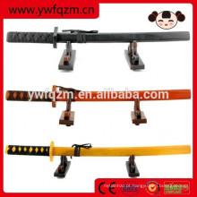 Espada de katana atacado brinquedo de madeira, 2017 nova espada de katana de madeira