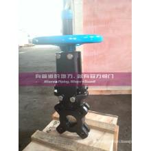 Válvula de compuerta de cuchillo de tratamiento de agua ANSI 150 #