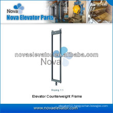 High quality Elevator Parts, Roping 1:1 Elevator Counterweight Frame