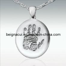 Sterling Silver Palm Cremation Jewelry