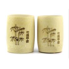 tasse de vin artisanal sculpté tasse de bambou