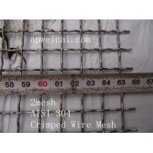 2mesh AISI 304 Acoplamiento de alambre prensado