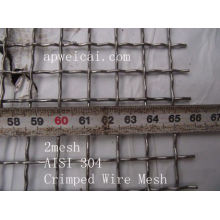 2mesh AISI 304 Crimped Wire Mesh