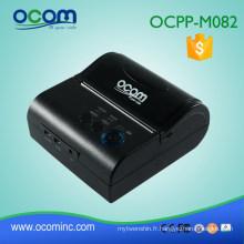 OCPP-M082 fiable alimenté par batterie winCE Android ou iOS conforme 80mm bluetooth portable mini imprimante mobile