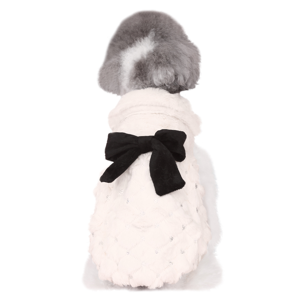 HOOPET-Pet-Clothes-Elegant-Luxury-Fur-Winter-Overcoat-Small-Dog-Cat-Clothes-Bowknot-Chihuahua