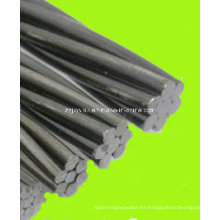 Alambre de acero galvanizado en caliente, cable de Guy, alambre de la estancia