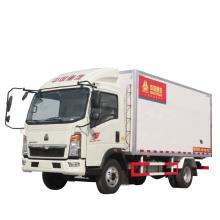 China Sinotruck Howo refrigerated/freezer Cold Box van Truck to Africa Market