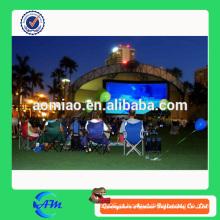 Novo design inflável tela de cinema projetor para publicidade ao ar livre, tela de cinema inflável