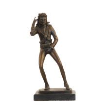 Statue en laiton de musique déco Michael Jackson Craft Sculpture en bronze Tpy-855