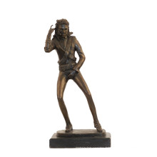 Music Deco Brass Statue Michael Jackson Craft Bronze Sculpture Tpy-855