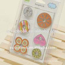 Lovely painted press metal snap button for DIY handmade