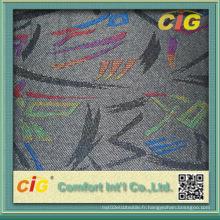 Tissu jacquard de navette avec collage (SAZD04340)
