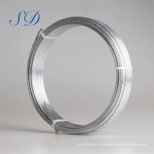 Bobine de fil de fer galvanisé de 4mm 0.9mm