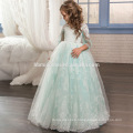 New Style Children Frocks Lace Tulle Long A Line Kids Party Dress Flower Girl Dress Patterns