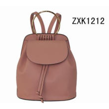 Trendy PU Daypack Fashion Backpack with Big O Ring Zxk1212