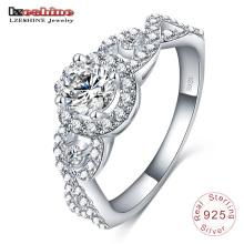 Celtic Boutique 925 trançado anel de casal de prata esterlina (SRI0015-B)