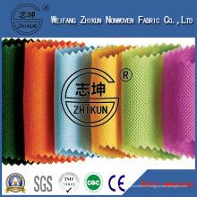 Tissu non tissé de Spun-Bond de 100% pp dans la conception croisée utilisée pour le sac à provisions