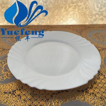 Verrerie de verre opale centrifugation vaisselle vaisselle Assiette plate